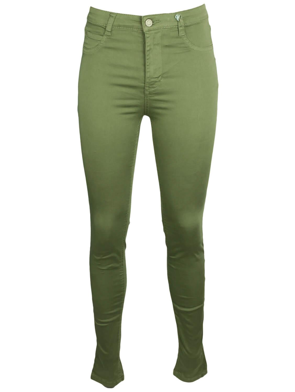 Pantaloni Pull and Bear Gina Dark Green