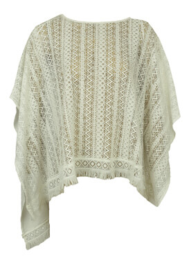 PONCHO STREET ONE LACE WHITE