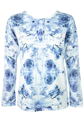 BLUZA HOUSE FLORAL BLUE