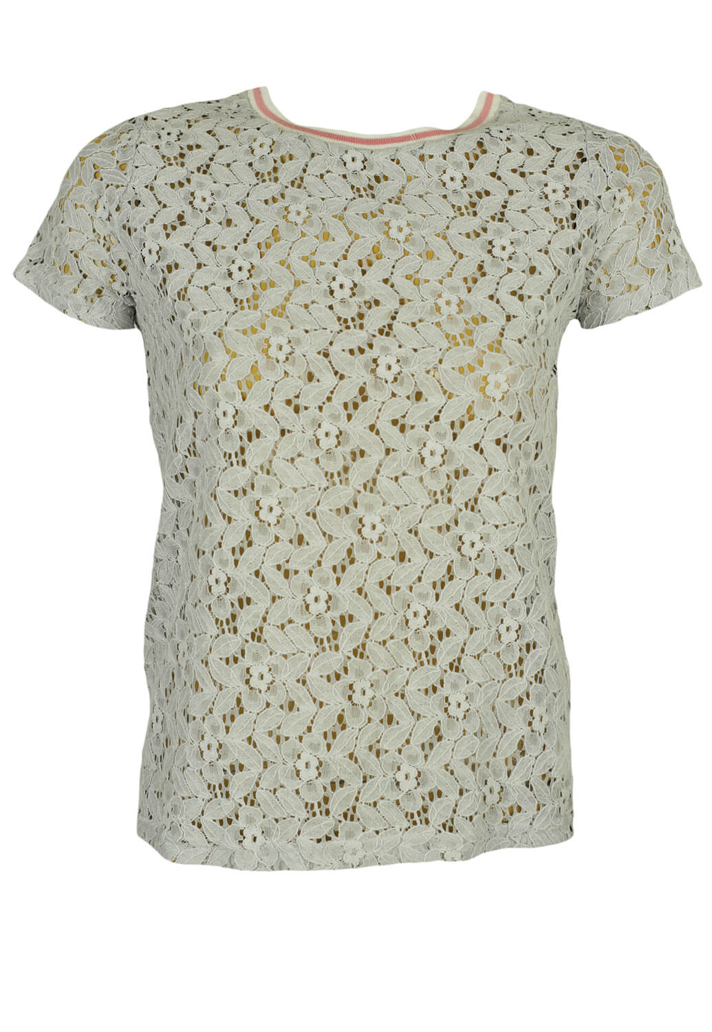 Tricou House Lace Light Grey