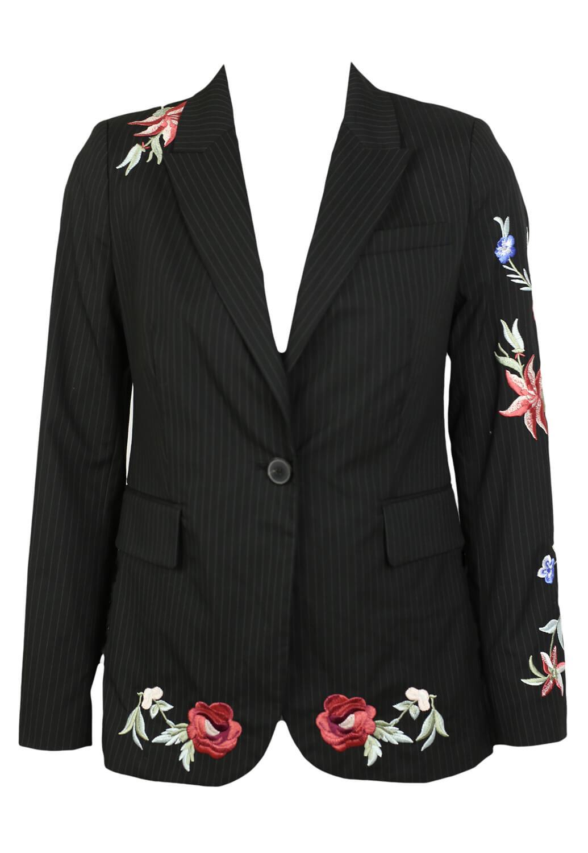 Sacou ZARA Floral Black
