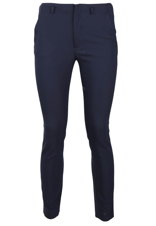 Pantaloni de stofa ZARA Abbie Dark Blue