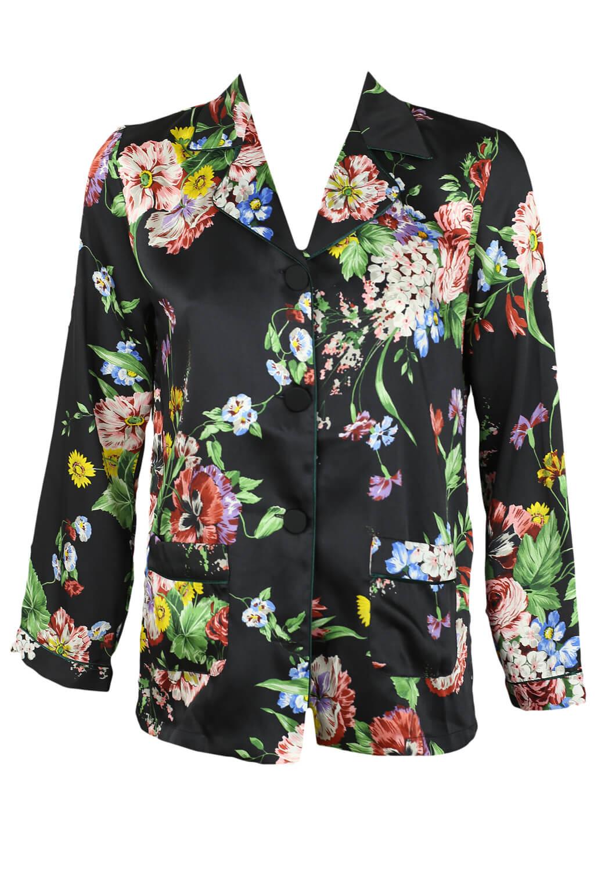 Camasa ZARA Floral Black