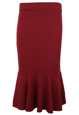 FUSTA ZARA PATRICIA DARK RED