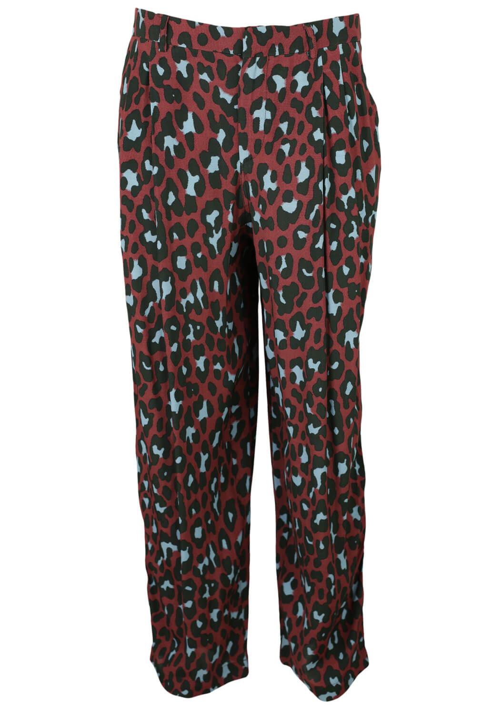 Pantaloni Mango Sage Dark Red