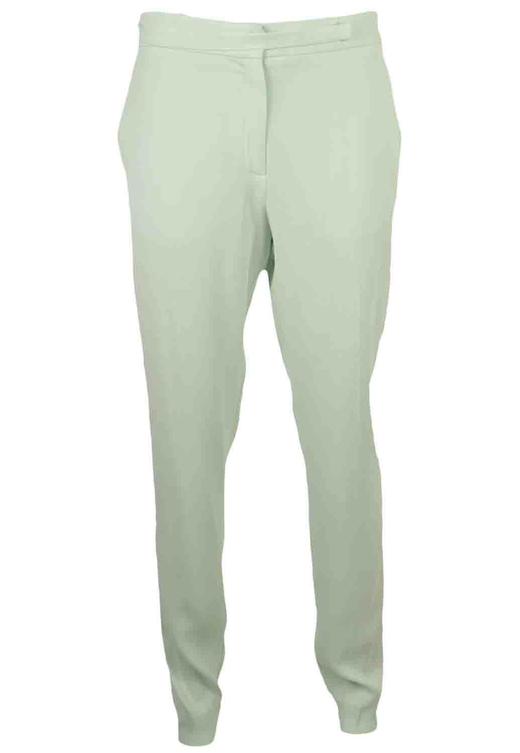 PANTALONI MANGO GINA LIGHT GREEN