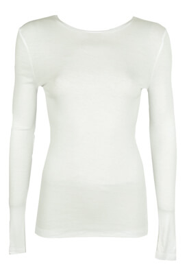BLUZA PULL AND BEAR MARA WHITE