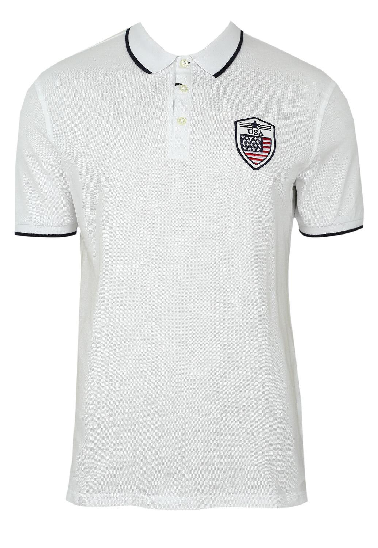 Tricou Polo ZARA Kaled White