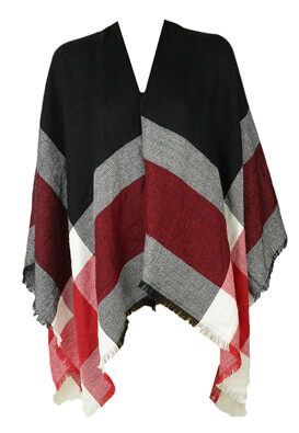 PONCHO ORSAY SALLY BLACK