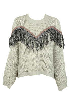 PULOVER PULL AND BEAR KORA LIGHT BEIGE