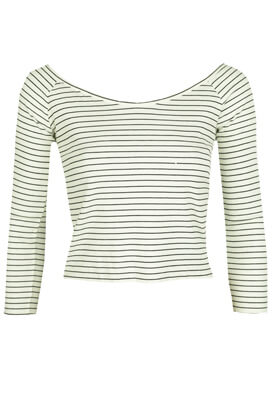 BLUZA PULL AND BEAR NASTASIA WHITE