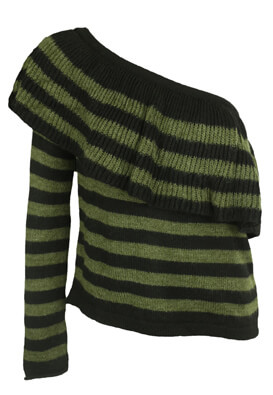 BLUZA PULL AND BEAR ERIKA DARK GREEN