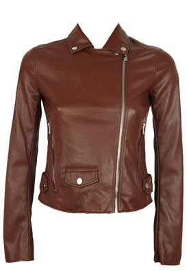 JACHETA PULL AND BEAR CHLOE DARK RED