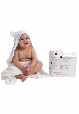 LUXURY BAMBOO TOWEL UNCLE JON BABY WHITE