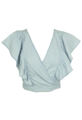 TRICOU BERSHKA ELLE LIGHT BLUE
