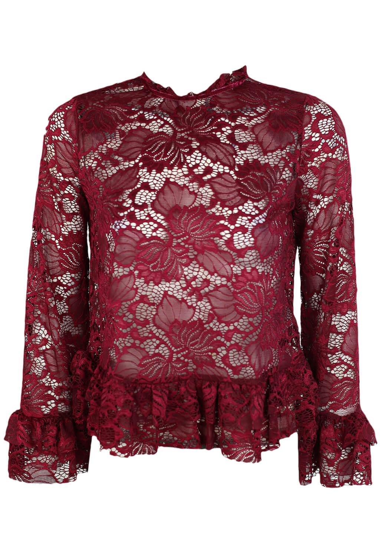 Bluza Only Karla Dark Red