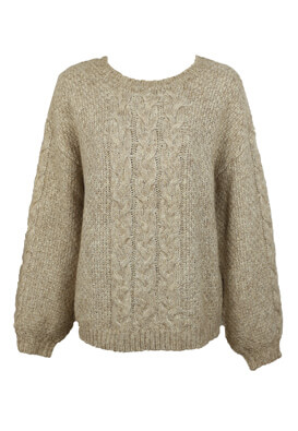 PULOVER SELECTED BESS BEIGE