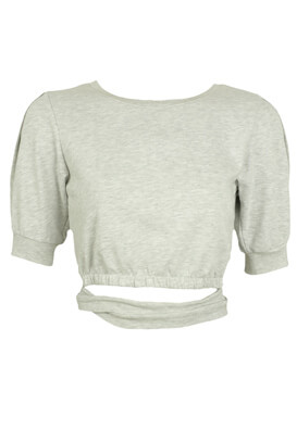 BLUZA BERSHKA CHRISTINE LIGHT GREY