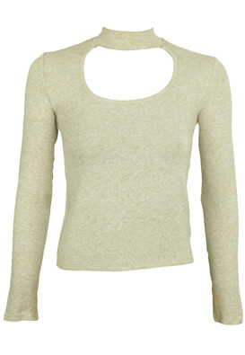 BLUZA BERSHKA CHRISTINE LIGHT BEIGE