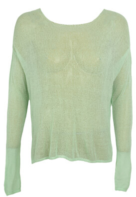 BLUZA BERSHKA LUCY LIGHT GREEN