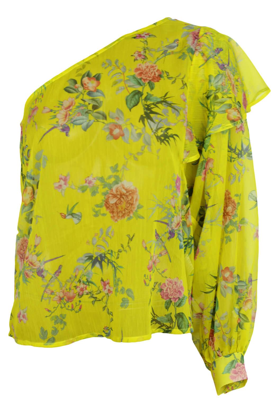 Bluza Stradivarius Floral Yellow