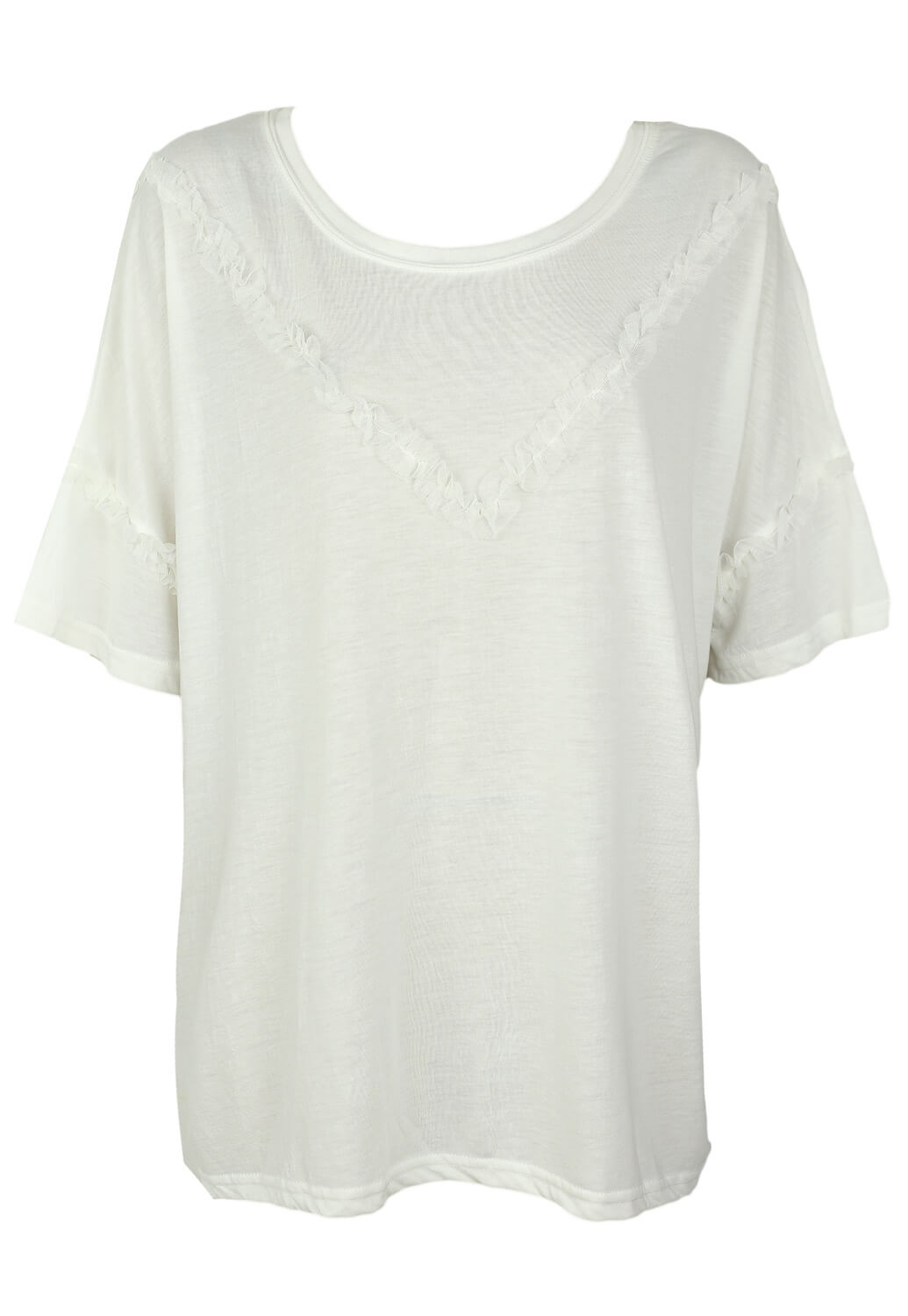 Tricou Junarose Molly White
