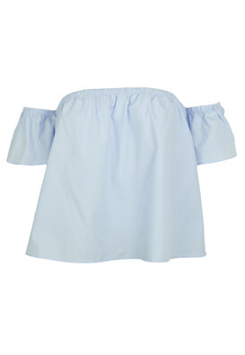 TRICOU BERSHKA RITA LIGHT BLUE