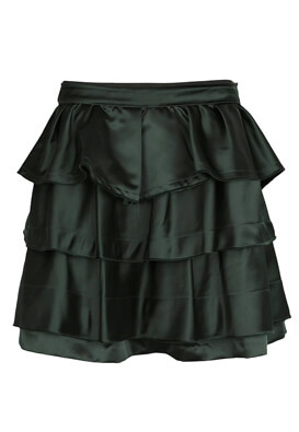 FUSTA ZARA BETTY DARK GREEN