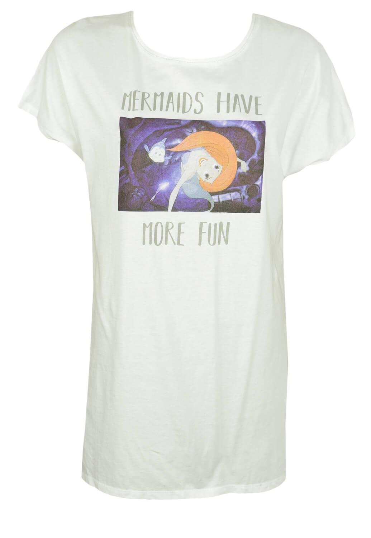 Tricou Disney Mermaid White