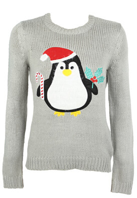 PULOVER HOUSE PENGUIN GREY