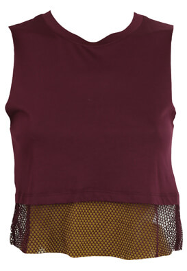 MAIEU BERSHKA LAURA DARK PURPLE