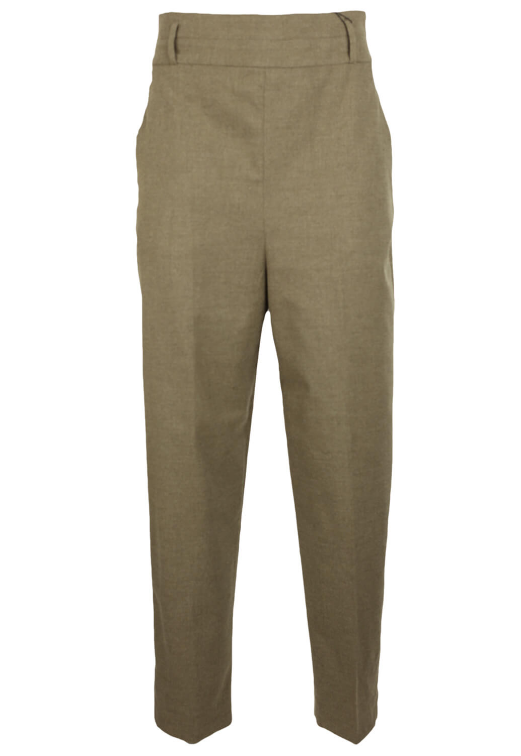 Pantaloni de stofa ZARA Donna Light Brown
