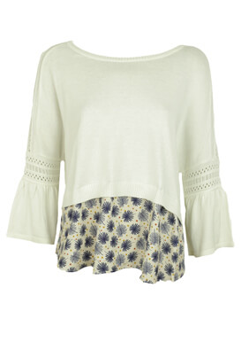 BLUZA MAILLE OFFICE ANYA WHITE