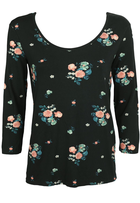 Bluza Promod Floral Black