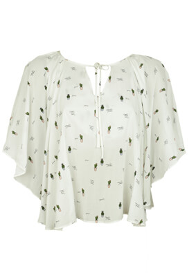 BLUZA MEENU CREATION CACTUS WHITE