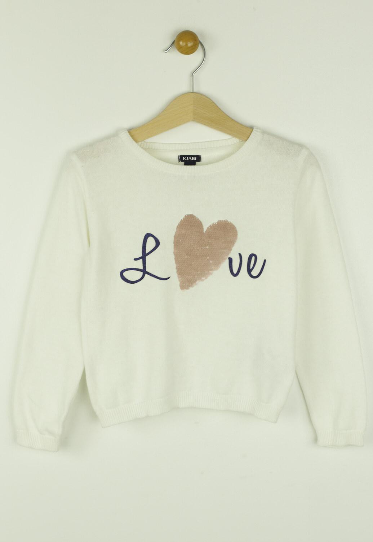 Bluza Kiabi Hearts White