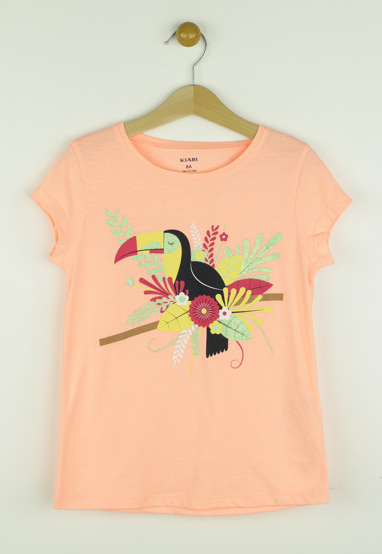 Tricou Kiabi Birdy Orange