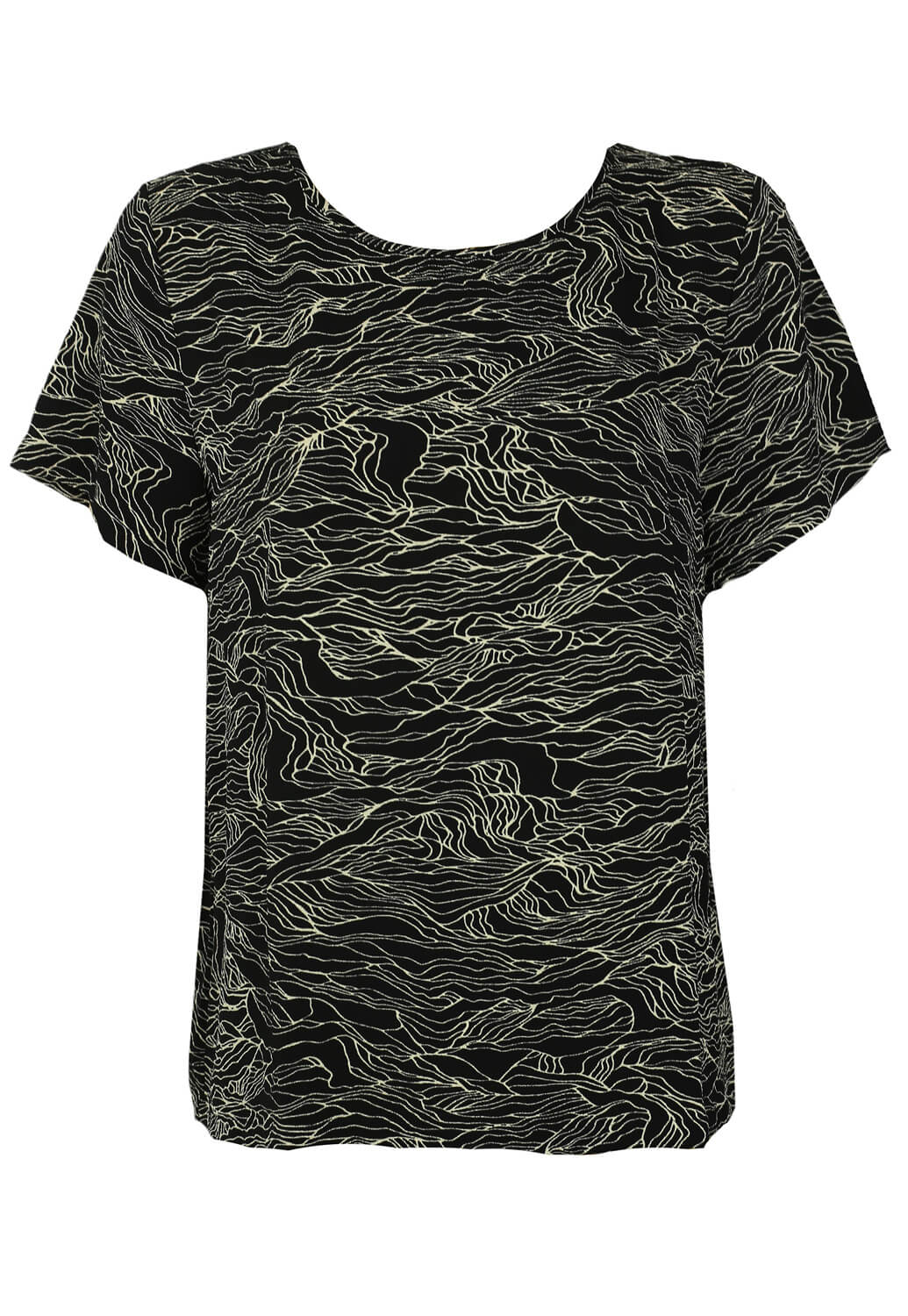 Tricou Object Orchid Black