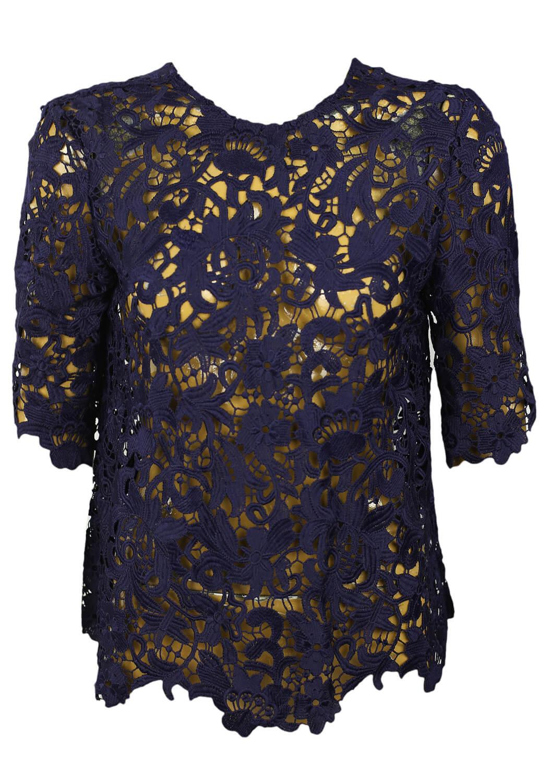 Tricou ZARA Anette Dark Blue