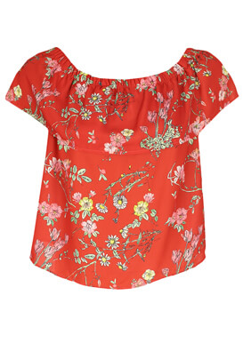 TRICOU PULL AND BEAR FLORAL RED