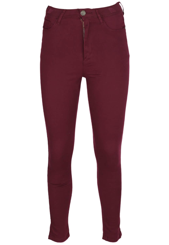 Pantaloni Cropp Olivia Dark Red