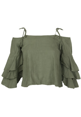TRICOU ZARA GEORGIA DARK GREEN