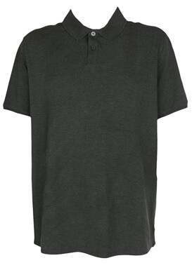 TRICOU POLO KIABI MARCO DARK GREY