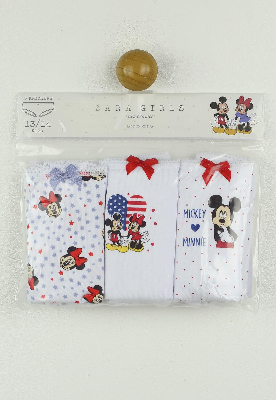 Set Chiloti ZARA Mickey Mouse White