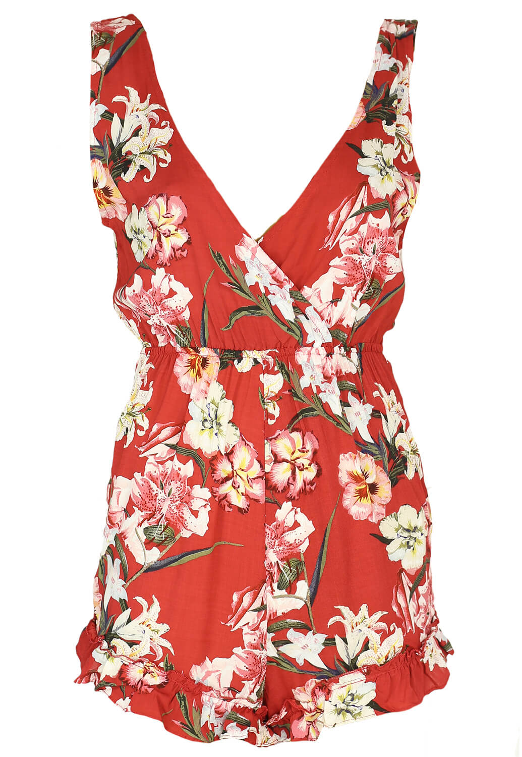 Salopeta Pull and Bear Floral Red