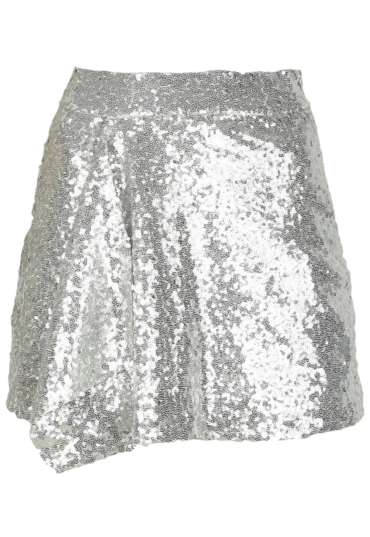 Fusta Bershka Shine Silver