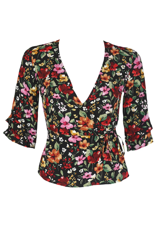Bluza Bershka Floral Colors