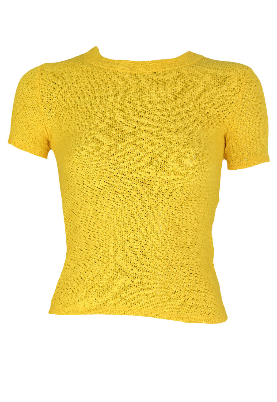 Tricou Bershka Molly Yellow