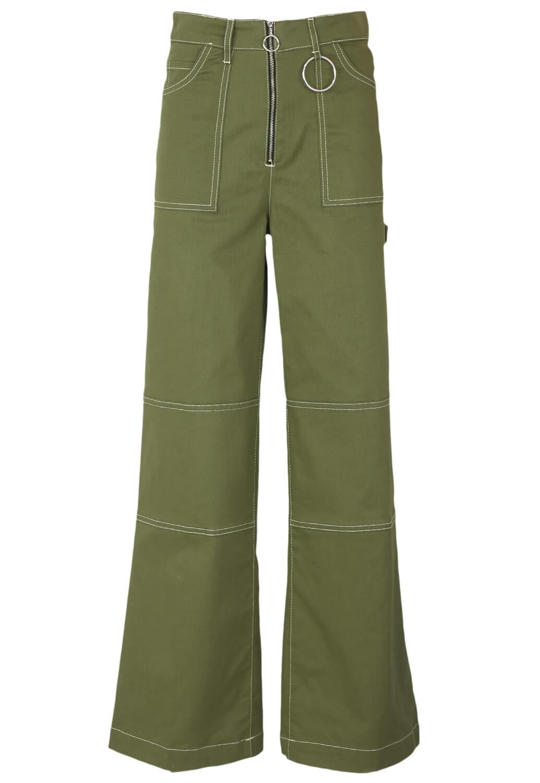 Pantaloni Bershka Tara Dark Green