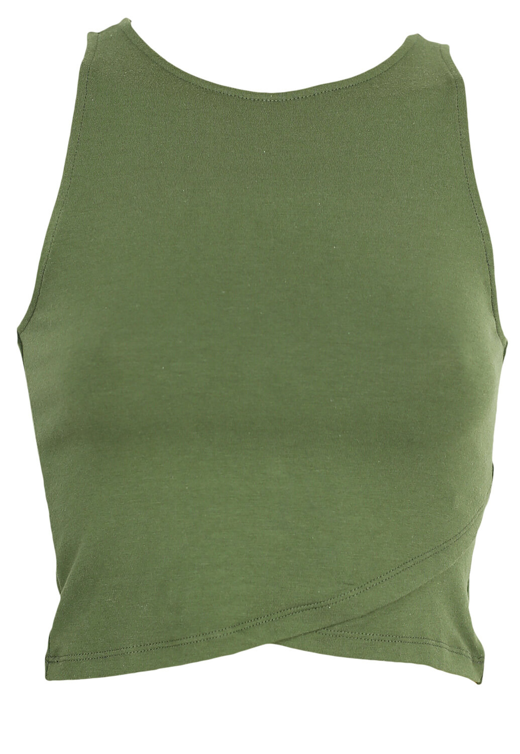Top Stradivarius Dahlia Dark Green